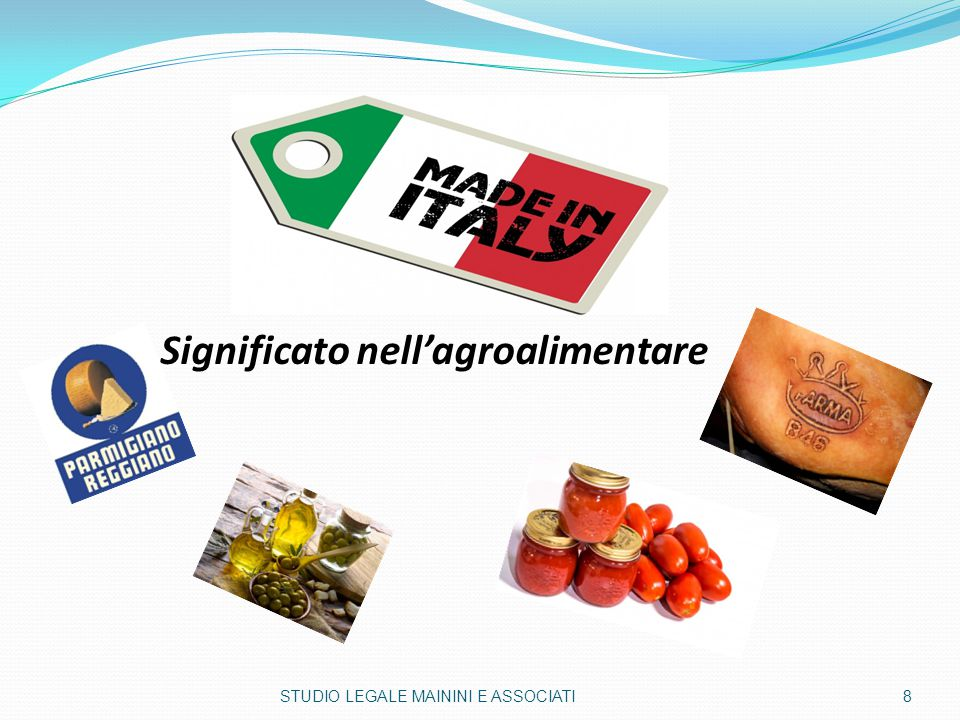 Significato nell'agroalimentare