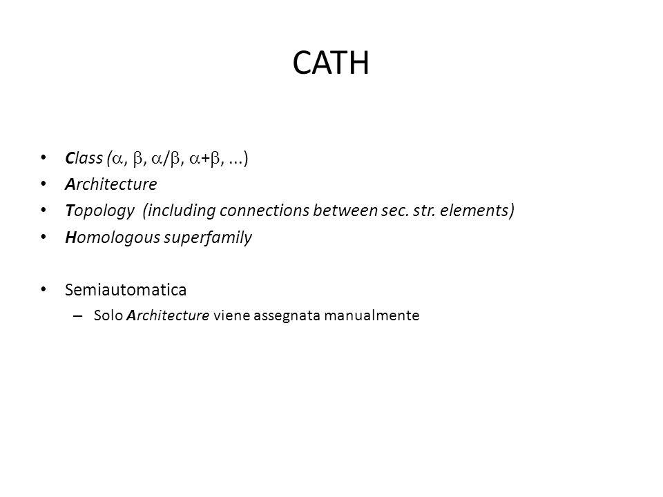 CATH Class (a, b, a/b, a+b, ...) Architecture