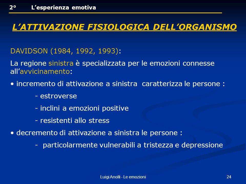 L'attivazione fisiologica dell'organismo
