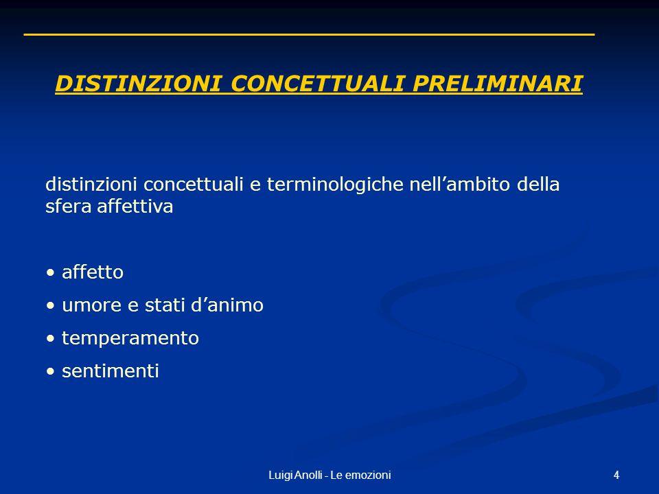 Distinzioni concettuali preliminari