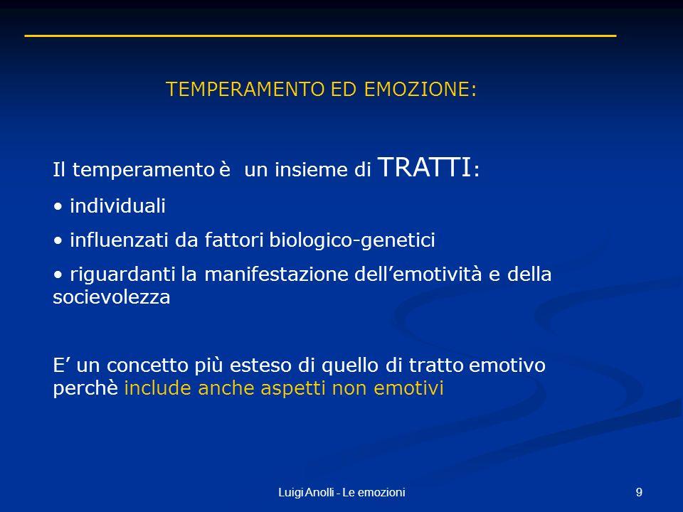 TEMPERAMENTO ED EMOZIONE: