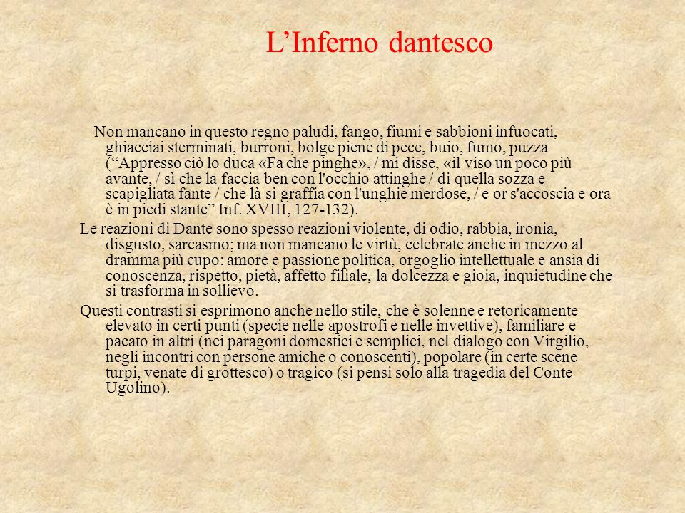 L'Inferno dantesco