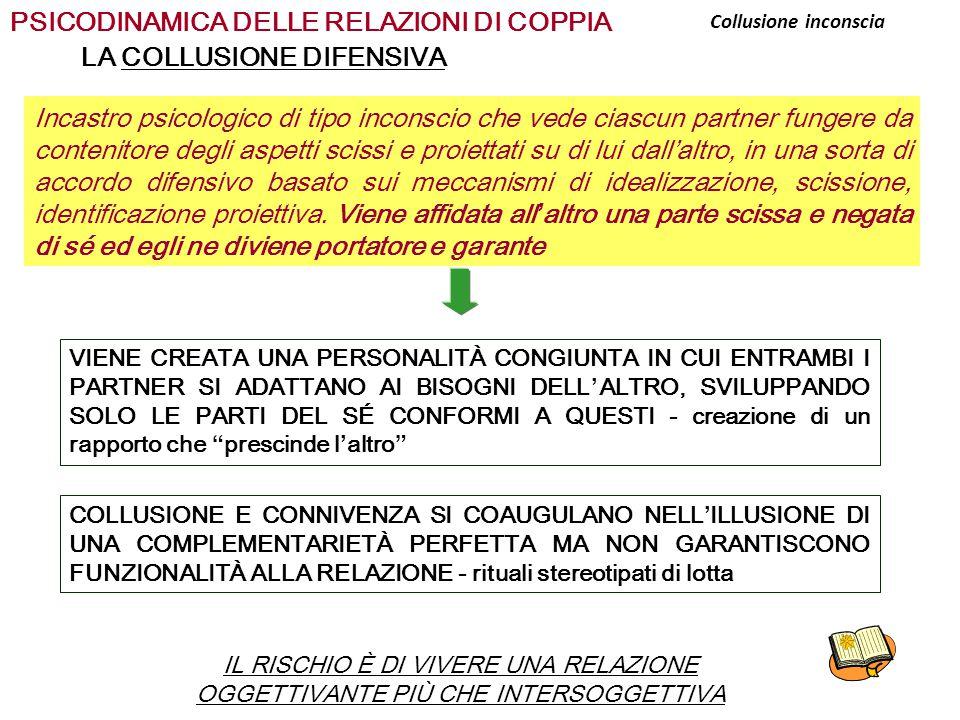 PSICODINAMICA DELLE RELAZIONI DI COPPIA LA COLLUSIONE DIFENSIVA