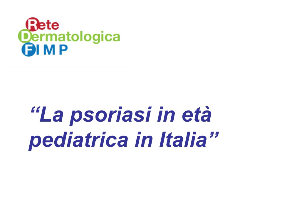 La psoriasi in età pediatrica in Italia