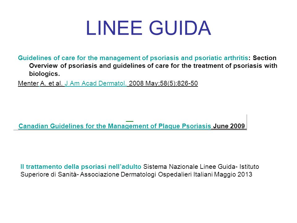 Canadian Guidelines for the Management of Plaque Psoriasis June 2009
