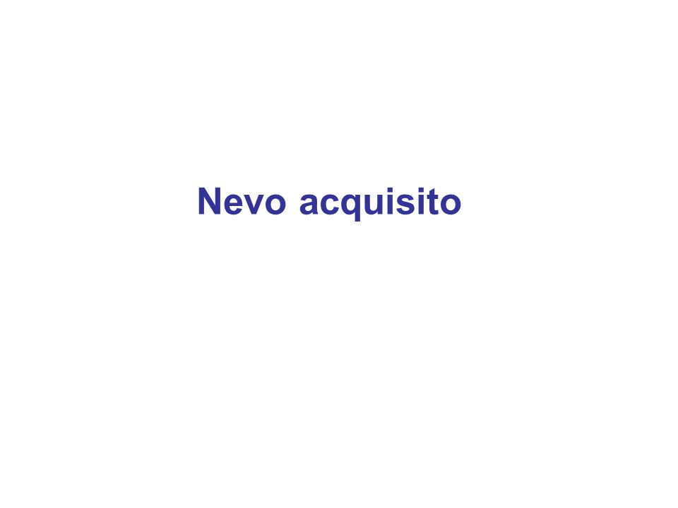 Nevo acquisito
