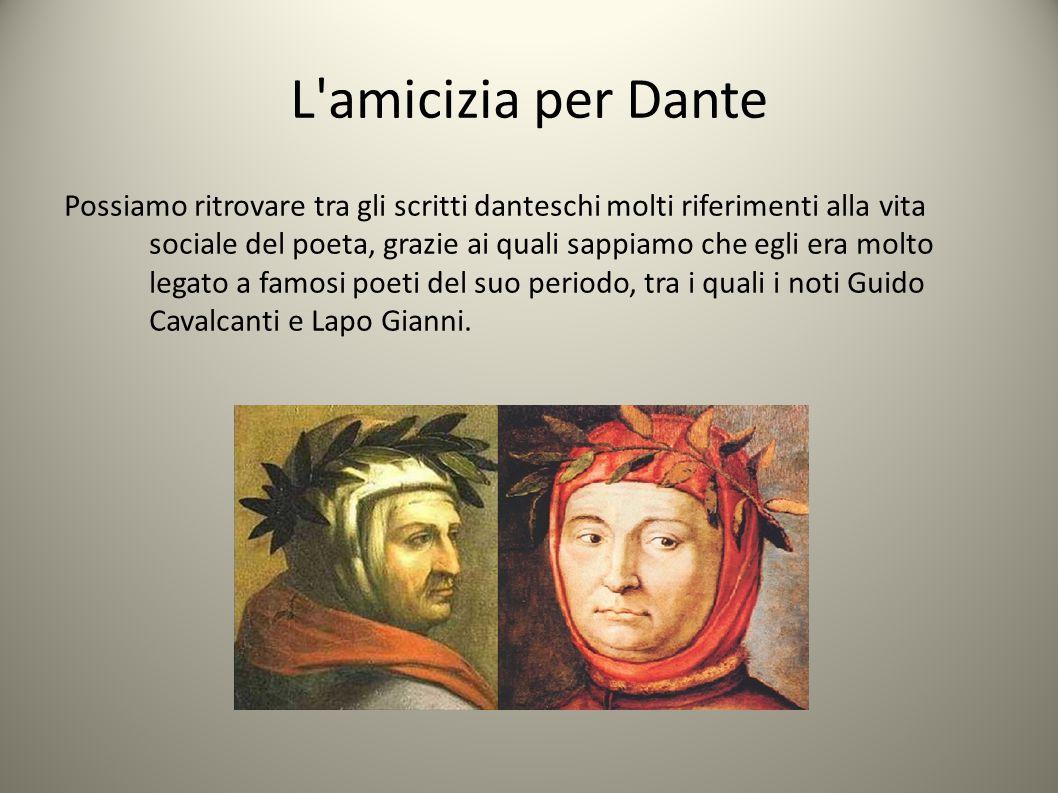 L amicizia per Dante