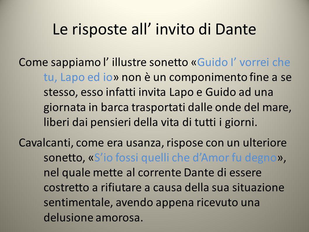 Le risposte all' invito di Dante