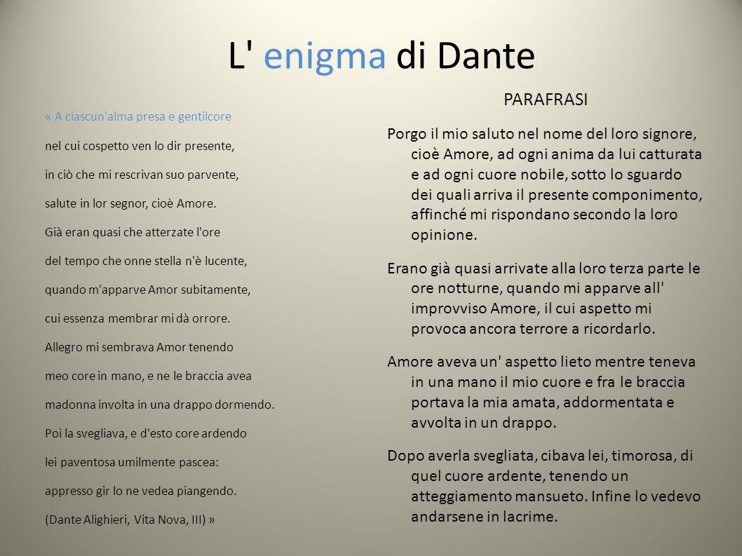 L enigma di Dante PARAFRASI