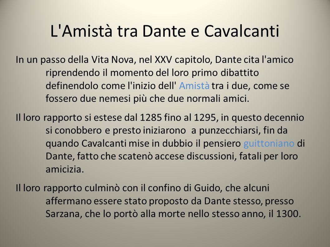 L Amistà tra Dante e Cavalcanti