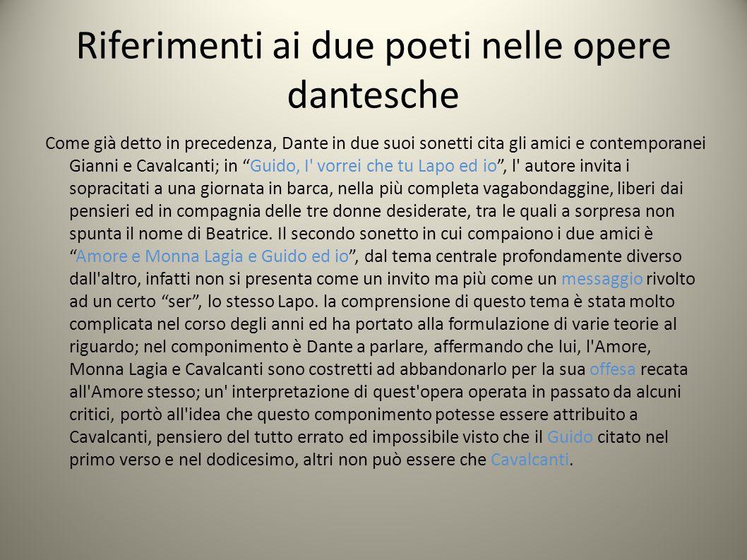 Riferimenti ai due poeti nelle opere dantesche