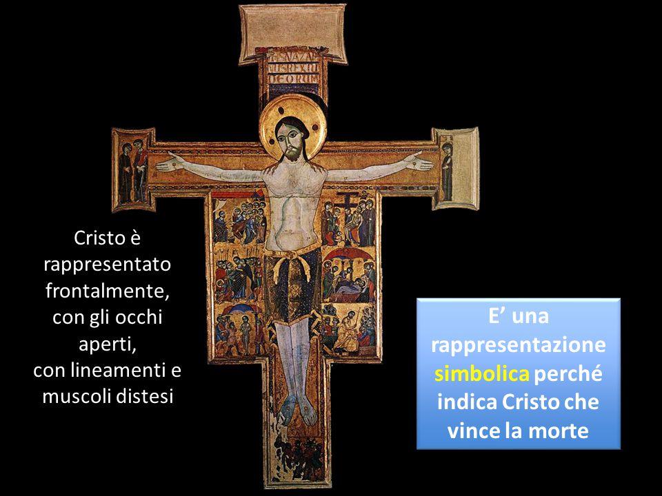 Cristo è rappresentato frontalmente,