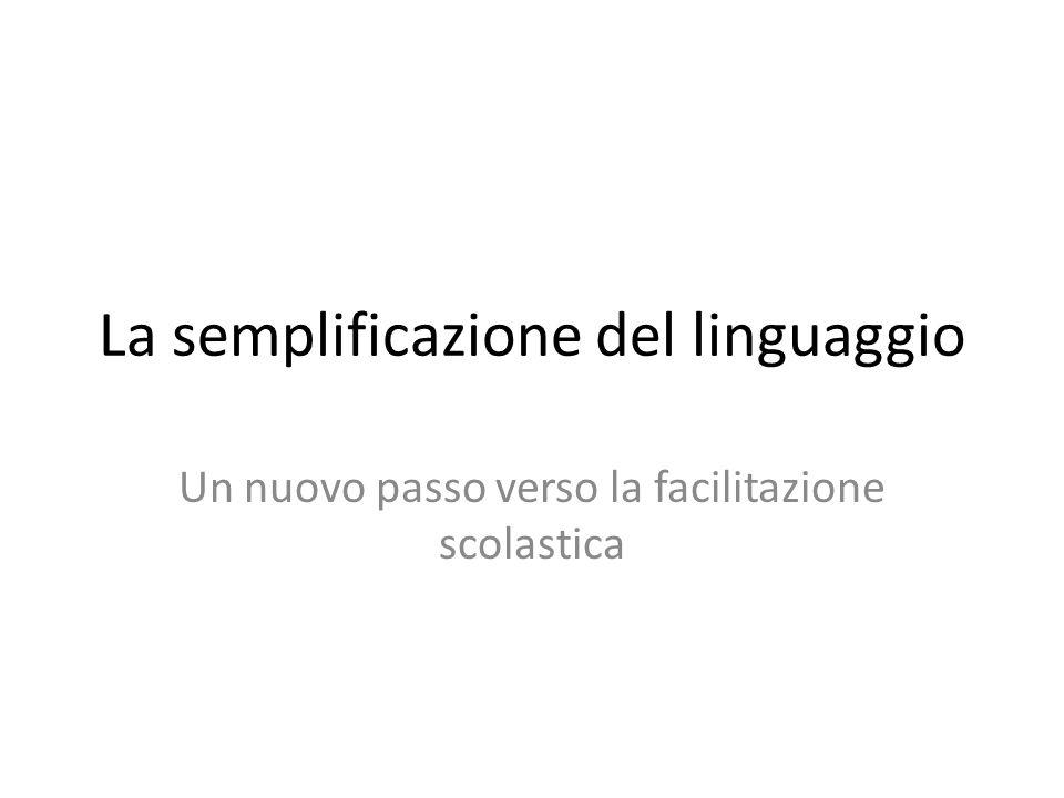 La semplificazione del linguaggio