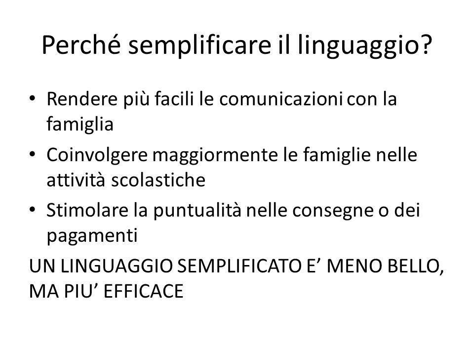 Perché semplificare il linguaggio