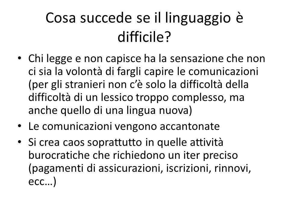 Cosa succede se il linguaggio è difficile