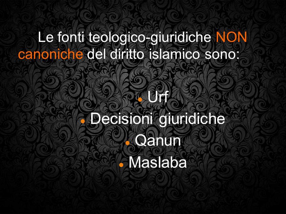 Urf Decisioni giuridiche Qanun Maslaba