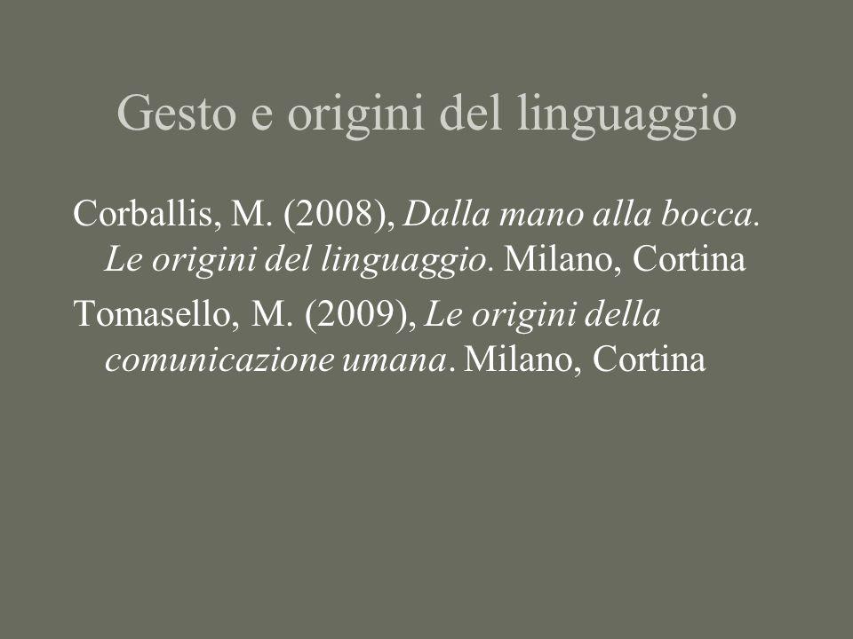 Gesto e origini del linguaggio