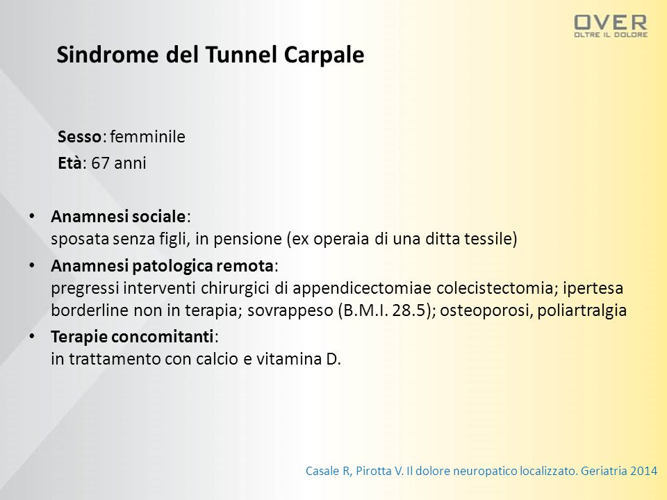 Sindrome del Tunnel Carpale