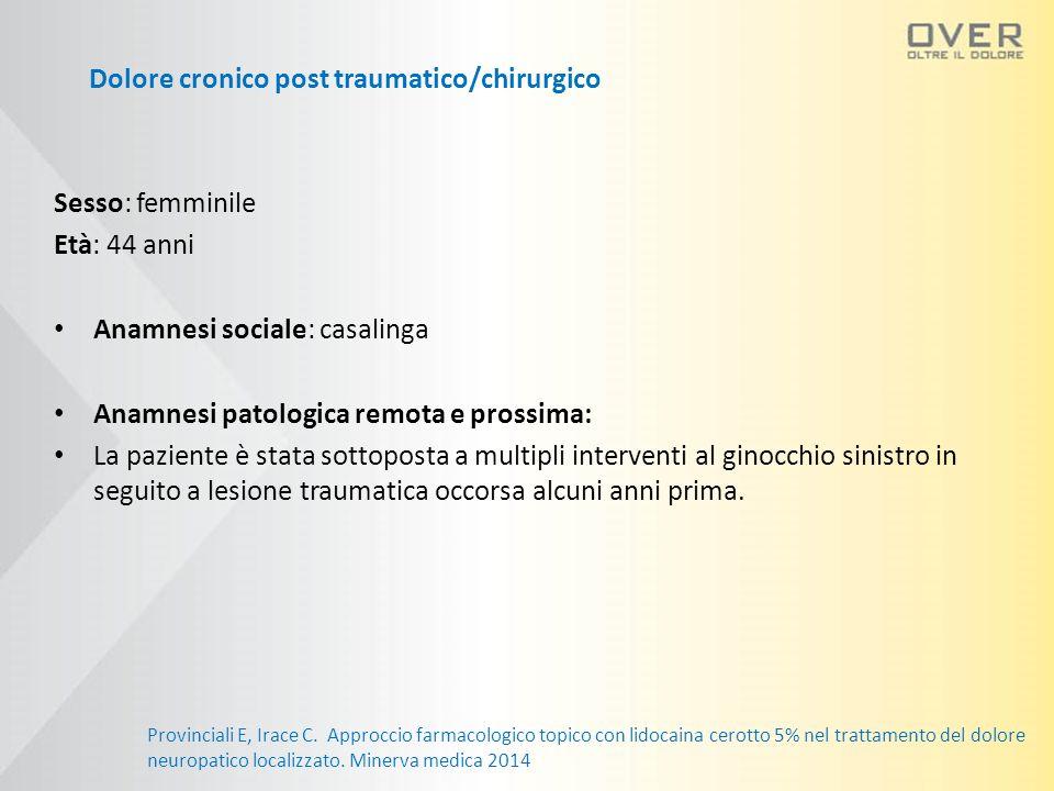 Dolore cronico post traumatico/chirurgico