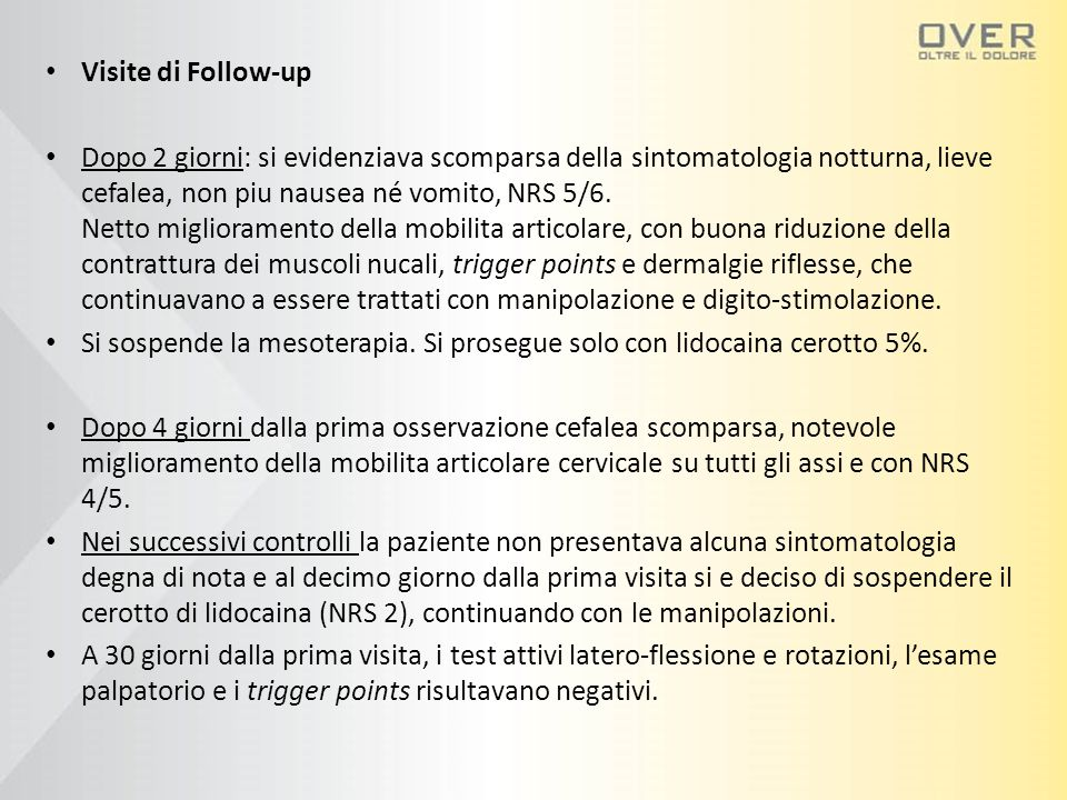 Visite di Follow-up