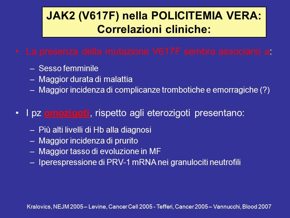 JAK2 (V617F) nella POLICITEMIA VERA: Correlazioni cliniche:
