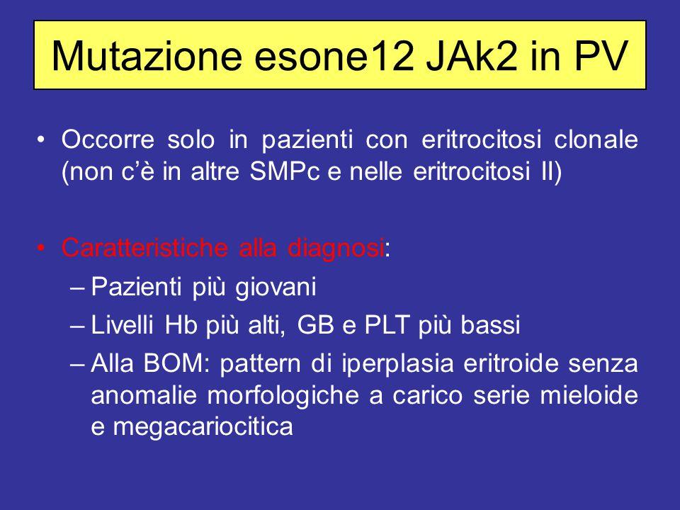 Mutazione esone12 JAk2 in PV