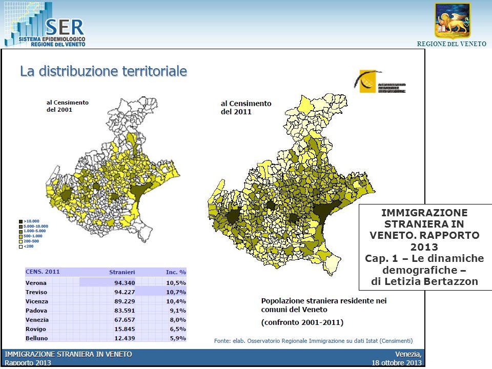 Immigrazione straniera in Veneto. Rapporto 2013 Cap