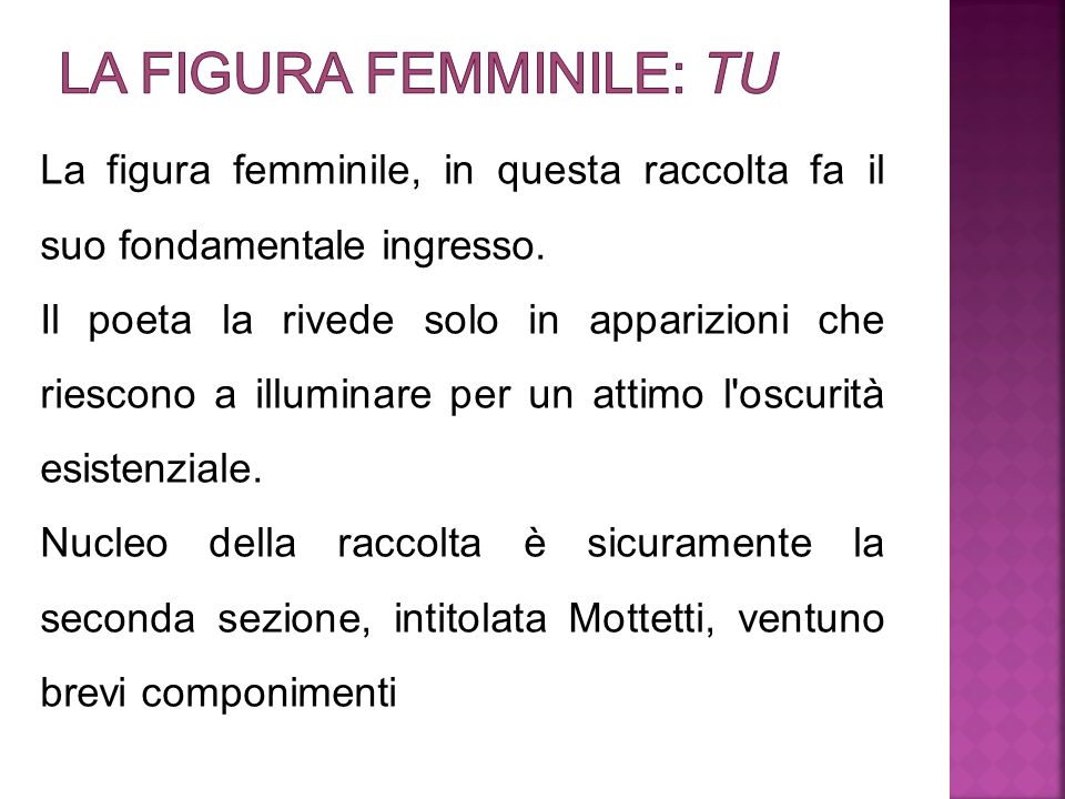 La figura femminile: tu
