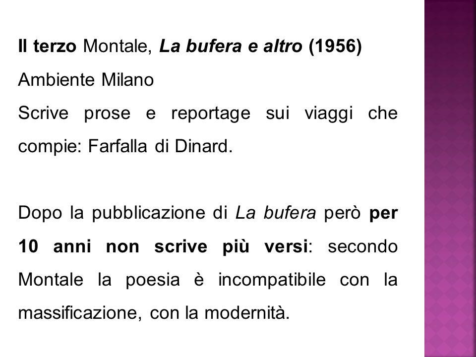 Il terzo Montale, La bufera e altro (1956)