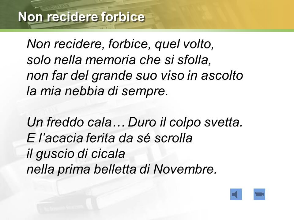 Non recidere forbice