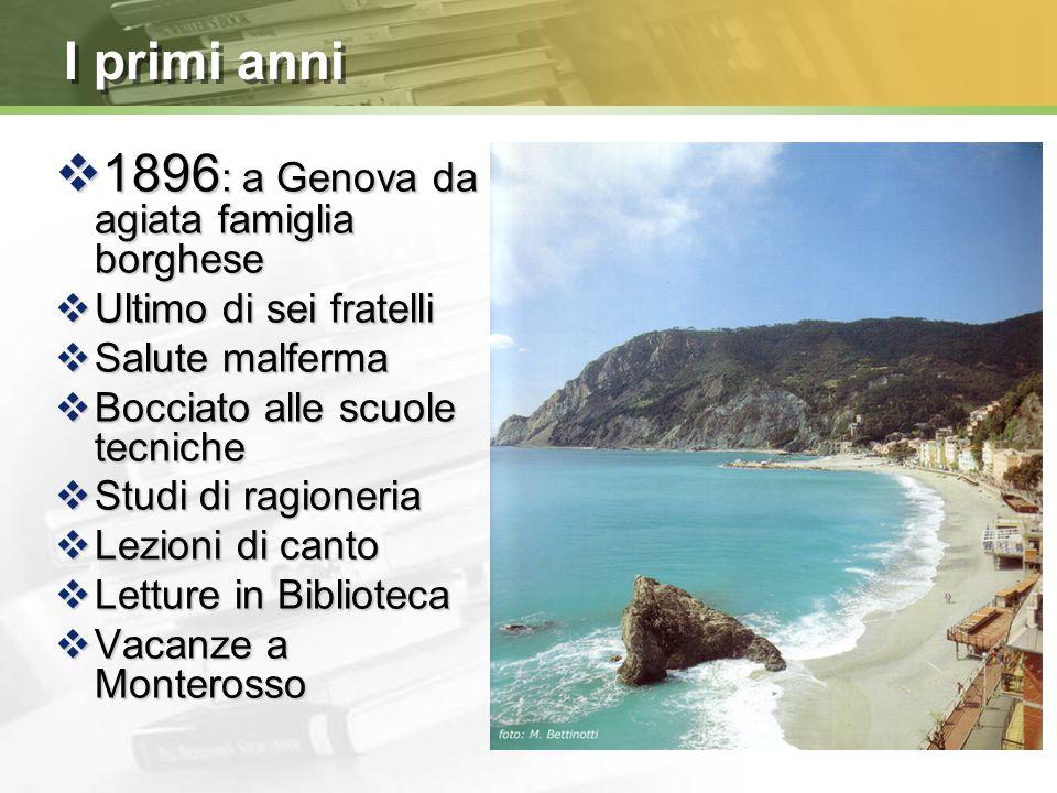 1896: a Genova da agiata famiglia borghese
