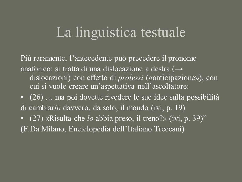 La linguistica testuale