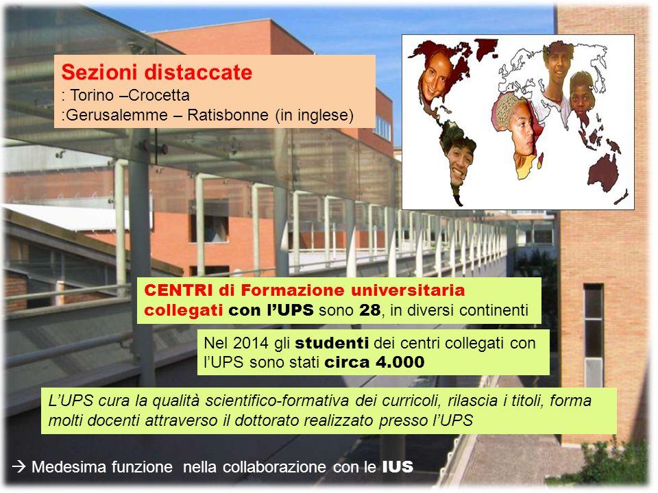 Sezioni distaccate : Torino –Crocetta