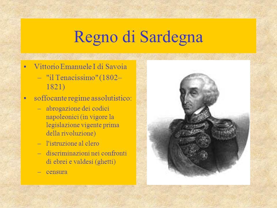 Regno di Sardegna Vittorio Emanuele I di Savoia