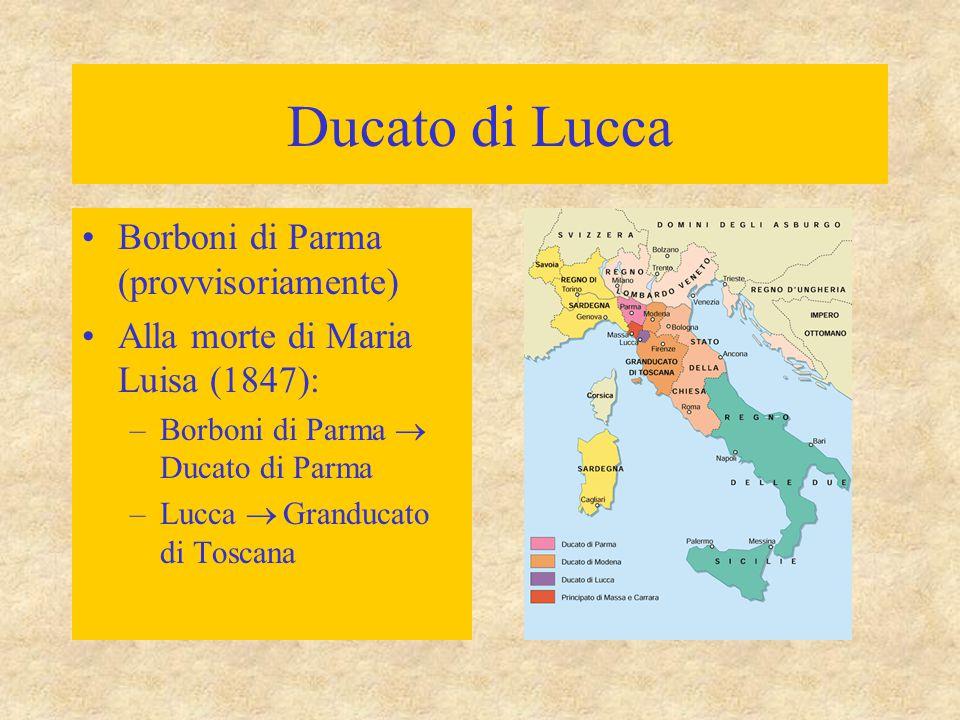 Ducato di Lucca Borboni di Parma (provvisoriamente)