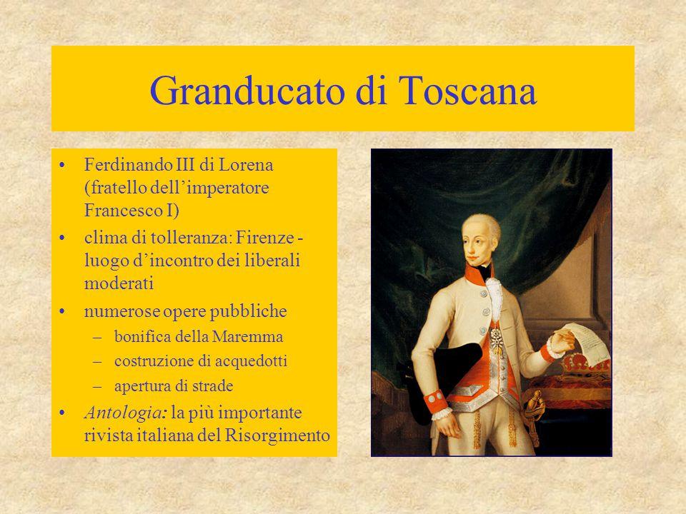 Granducato di Toscana Ferdinando III di Lorena (fratello dell'imperatore Francesco I)