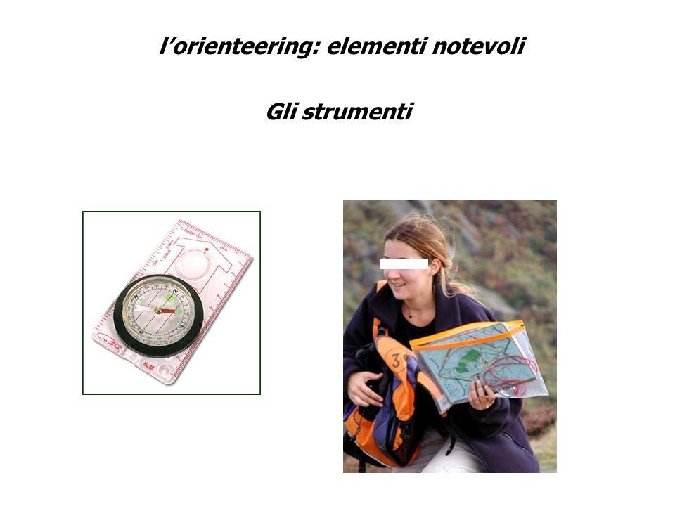 l'orienteering: elementi notevoli