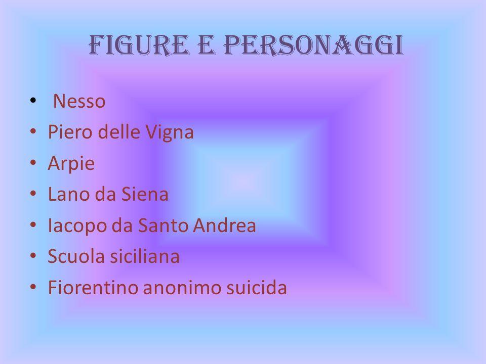 Figure e Personaggi Nesso Piero delle Vigna Arpie Lano da Siena