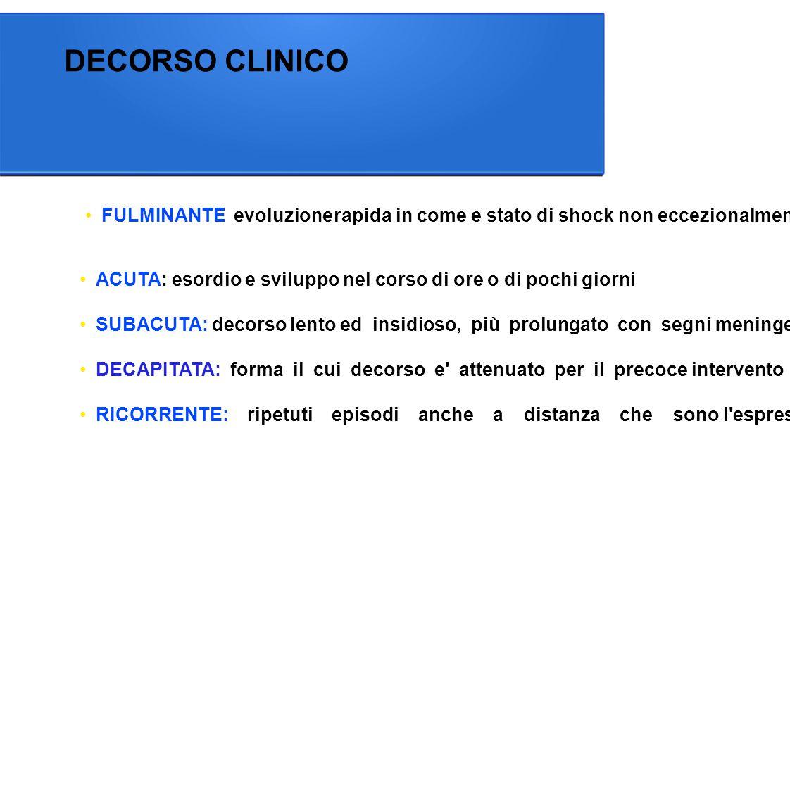 DECORSO CLINICO in coma e
