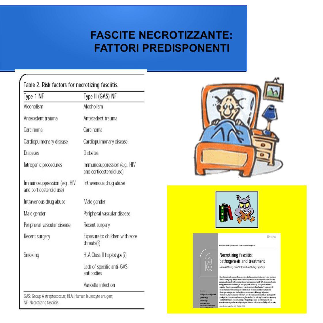 FASCITE NECROTIZZANTE: FATTORI PREDISPONENTI