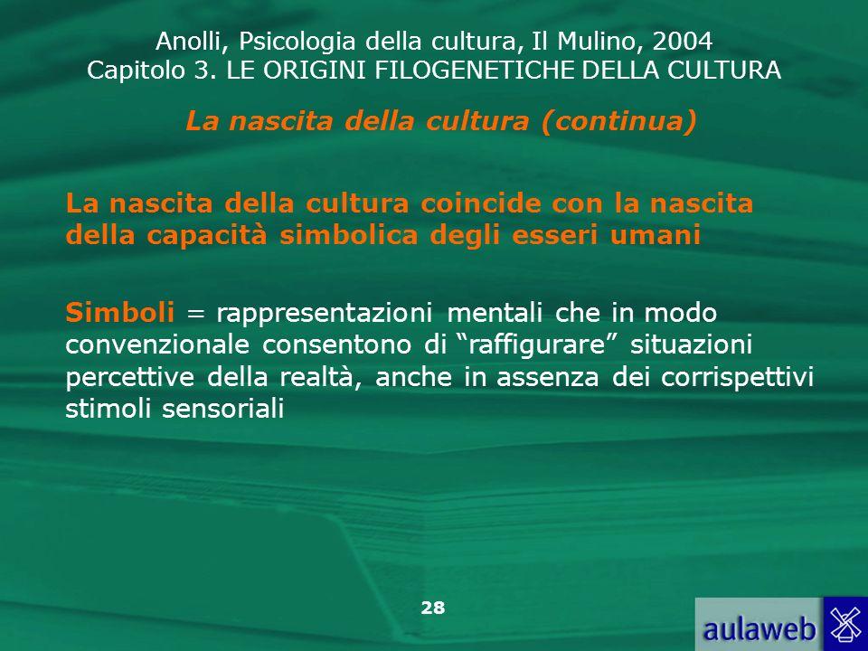 La nascita della cultura (continua)