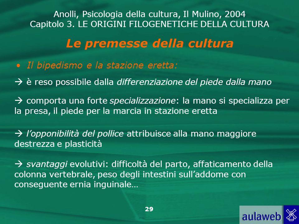Le premesse della cultura