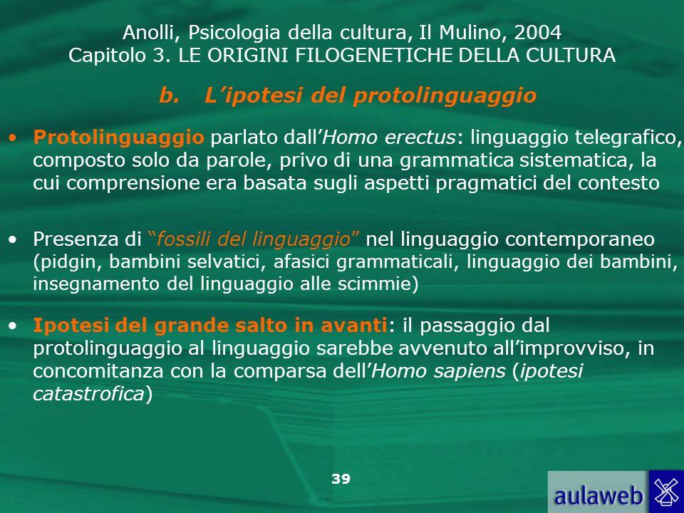 L'ipotesi del protolinguaggio