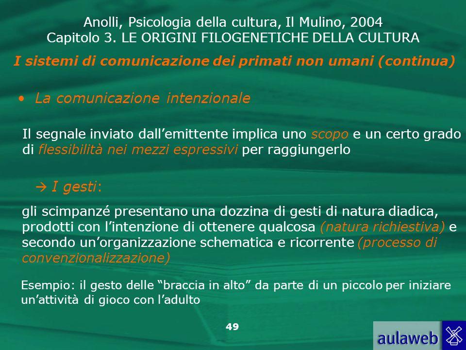 I sistemi di comunicazione dei primati non umani (continua)