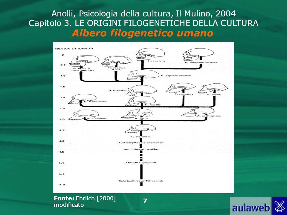 Albero filogenetico umano