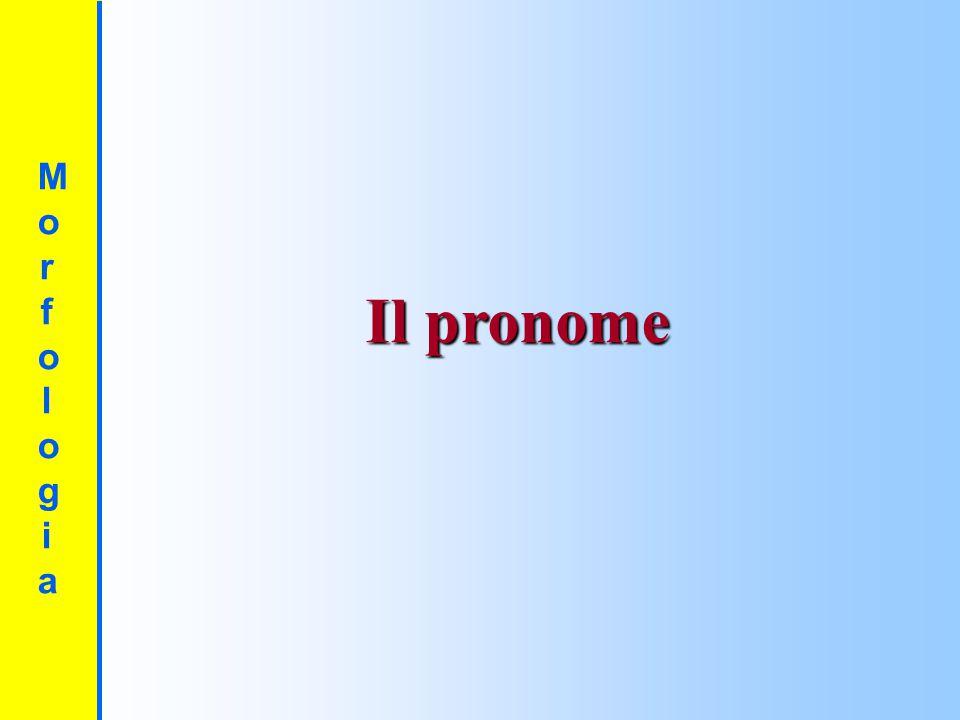 Morfologia Il pronome