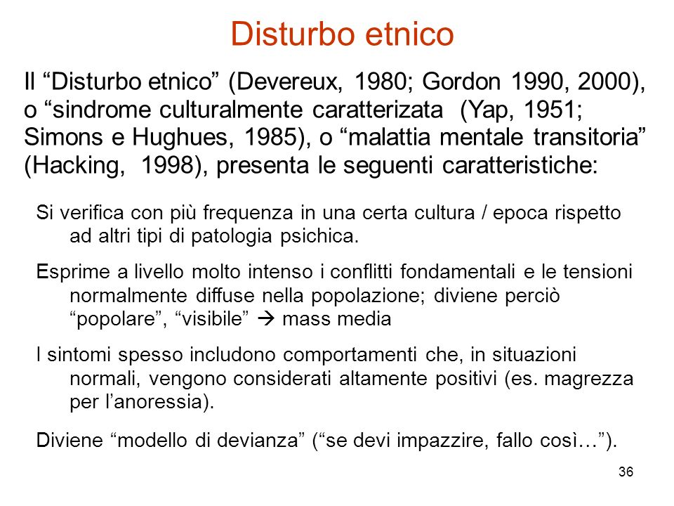 Disturbo etnico
