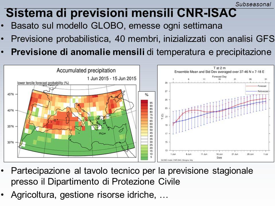 Sistema di previsioni mensili CNR-ISAC