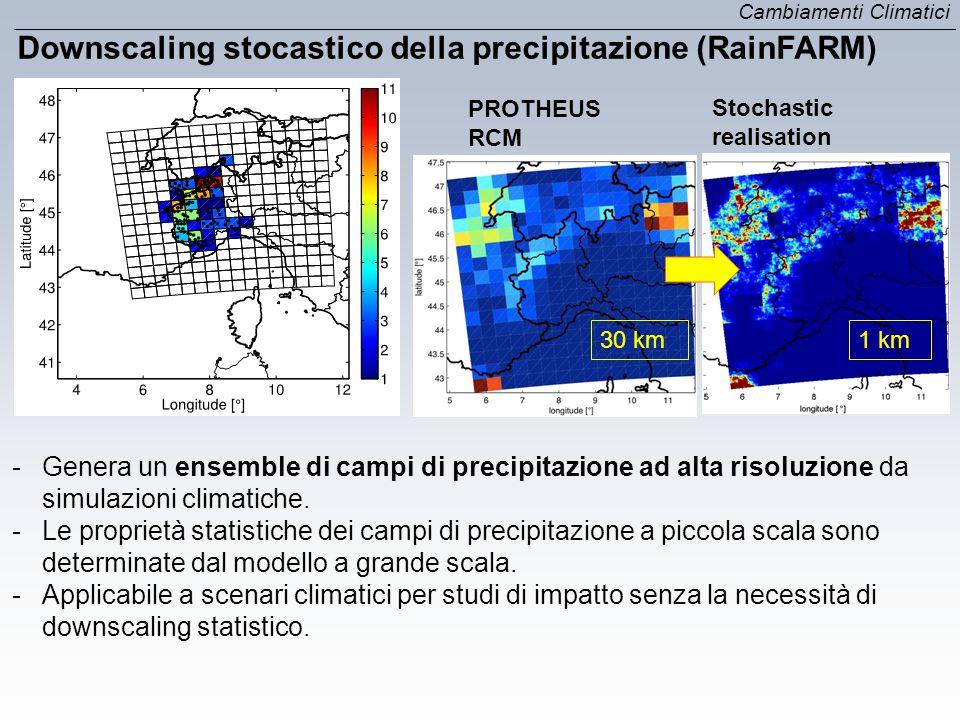 Downscaling stocastico della precipitazione (RainFARM)