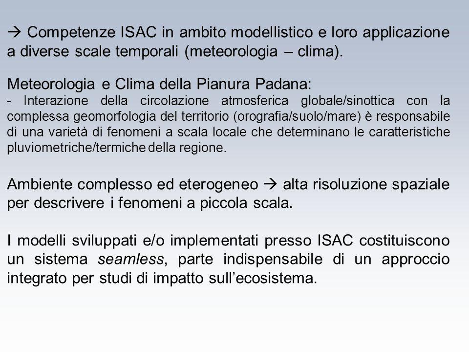Meteorologia e Clima della Pianura Padana: